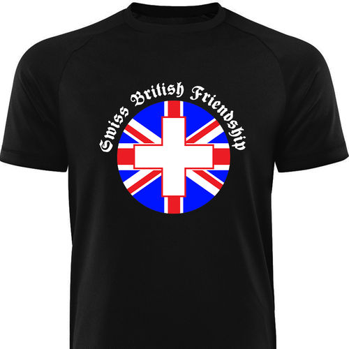 Männershirt-ENGLAND-Swiss British Friendship