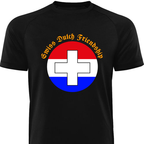 Männershirt-NIEDERLANDE-Swiss Dutch Friendship